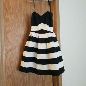 Brand new, black and white stripe dress